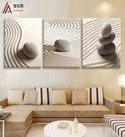 3 piece art sandy beach pebbles Modular Picture home decor Canvas Prints Picture on the Walls of the Living Room painting print