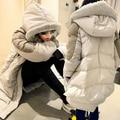 2016 nuevo estilo caliente del invierno de la capa medio-largo abajo engrosamiento suelta más el aspecto delgado de maternidad invierno de la chaqueta wadded prendas de vestir exteriores