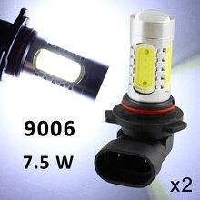Белый Цвет Автомобильный светодиодный светильник чип украшения 7,5 W для 9006 HB4 9012 9006HP 9006XS Противотуманные фары Дневные ходовые огни лампы объектив проектора авто противотуманные фары лампа отделка
