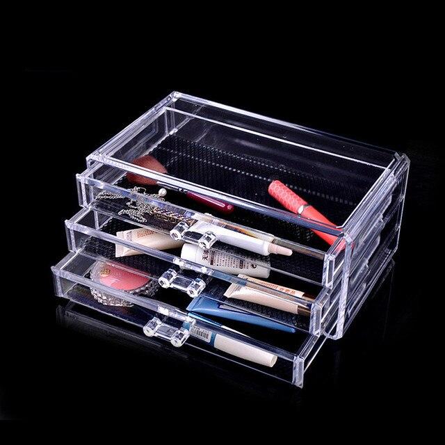 Acrylic Finishing  Layer Drawer Make Up Organizer Case Shelf Storage Box Clear Plastic Cosmetic Storage