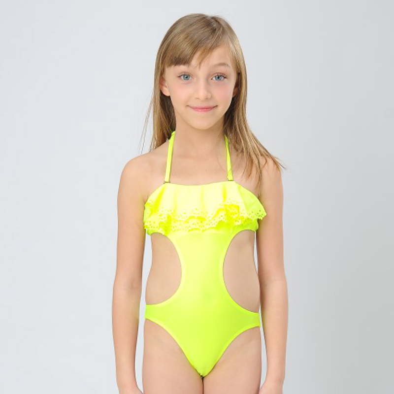 2015 Baby Girls Individuality Swimsuit Little Girls Two ...