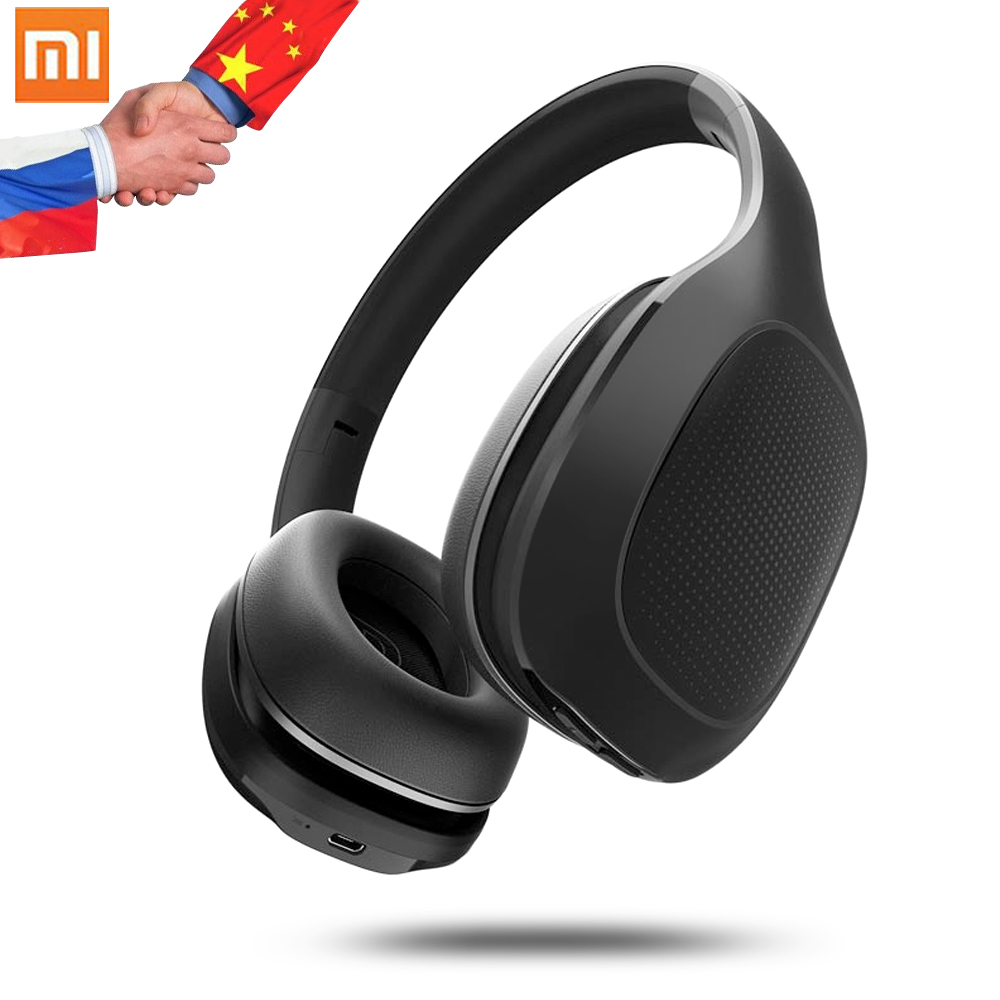 2018 Original Xiaomi Bluetooth Headphone with Mic 400mAh Battery Earbuds 40mm Dynamic Coil Headset Wireless Foldable