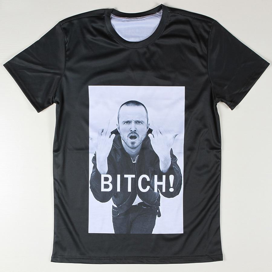 Summer cool style men jesse pinkman t shirts logo printing for Logo t shirt printing