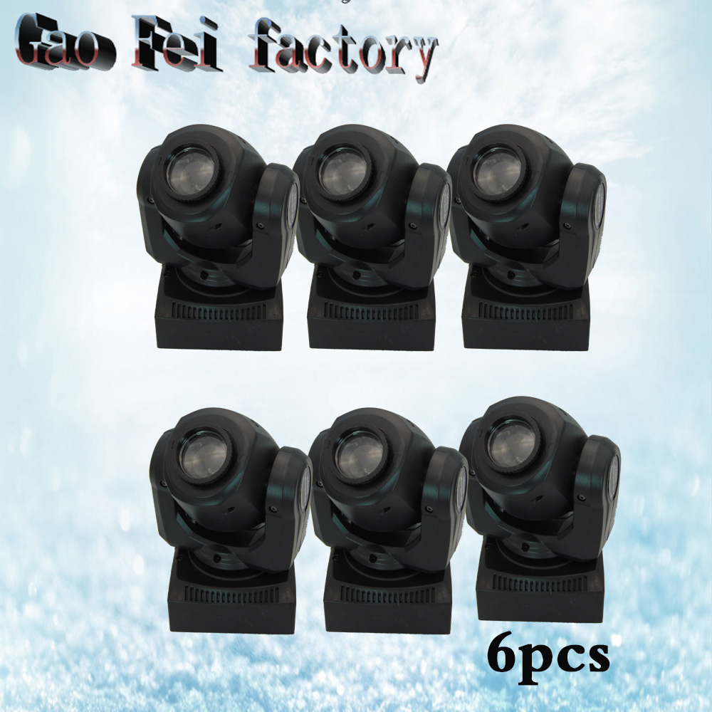 6pcs/lot 30W Moving head light DMX DJ Disco Party Wedding Stage Effect Fixture 30W White LED Spot Moving Head Light free shipping 6pcs lot 120w moving head light sharpy beam 2r led lights dj disco club party wedding stage effect