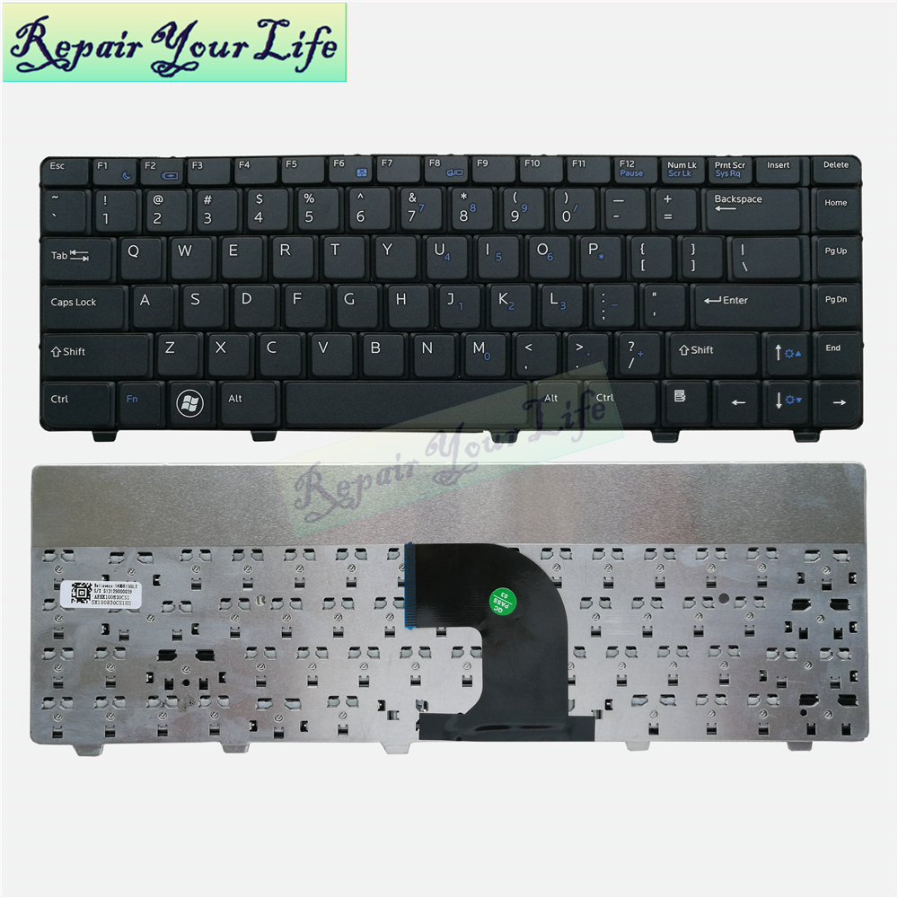 Repair You Life V3300 English laptop keyboard for <font><b>DELL</b></font> Vostro 3300 V3300 3400 <font><b>3500</b></font> US standard keyboard wholesales dropshipping image