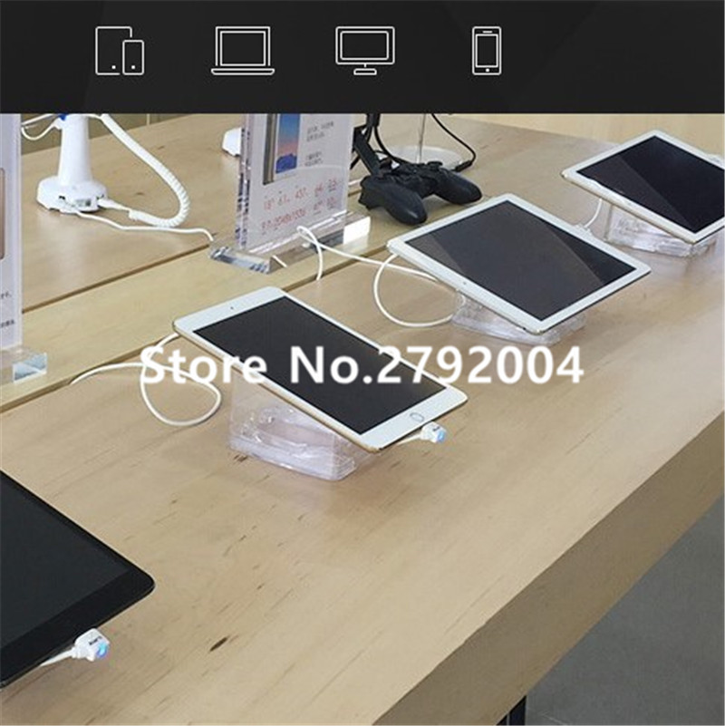 6 USB ports security system for Mobile shop decoration anti-theft alarm cell phone display stand