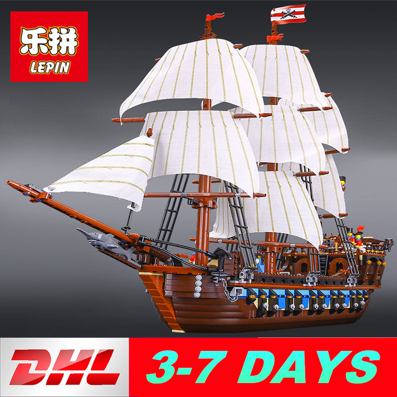 Lepin 22001 Imperial warships Pirates of the Caribbean Ship 16006 16009 LegoINGlys 4195 70618 10210 Building Blocks Bricks lepin 22001 pirates series the imperial war ship model building kits blocks bricks toys gifts for kids 1717pcs compatible 10210