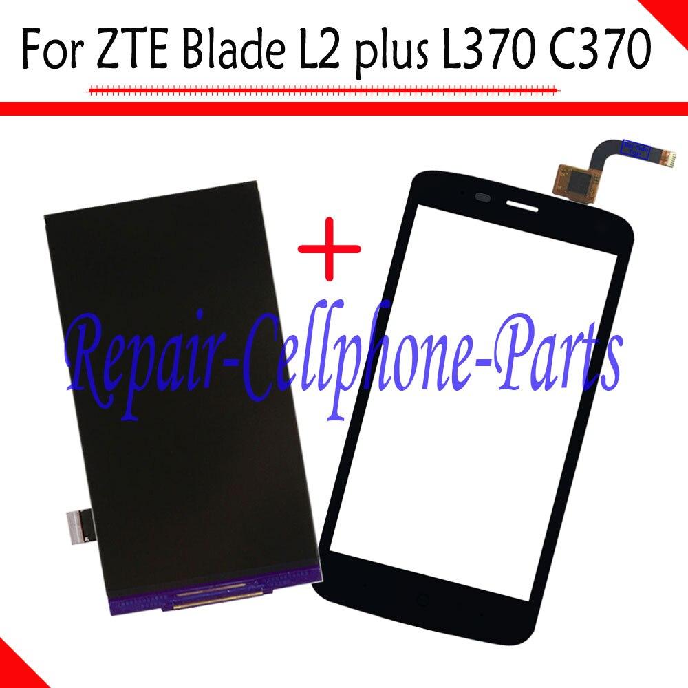 imágenes para Negro 100% Nuevo LCD DIsplay + Touch Screen Reemplazo Digitalizador Para zte blade l2 plus/hoja l370/hoja c370 envío gratis