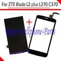 Preto 100% Novo DIsplay LCD + Touch Screen Substituição Digitador Para zte blade l2 plus/lâmina l370/lâmina c370 frete grátis