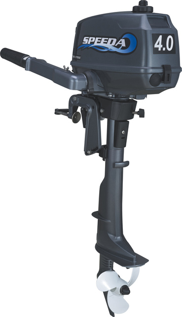 US $370 71 7% OFF|2018 Best Price Facotry Sale SPEEDA 2 stroke 4HP outboard  motor short shaft boat motor water cooled motor for boat CE approved-in