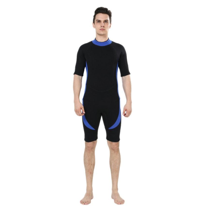 REALON Shorty nedvesruha férfiak 3mm neoprén szörfruha nőknek Fürdőruha Rash Guard nedves öltöny snorkeling búvárkodás úszás kajak