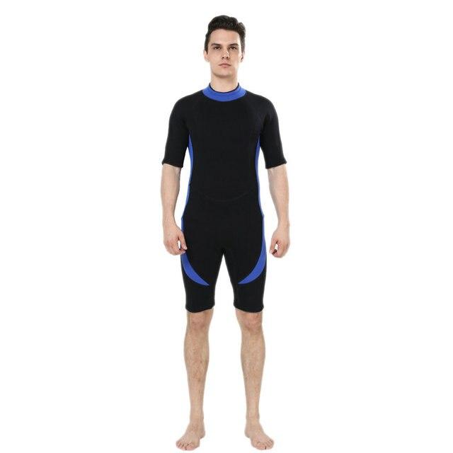 7bb6792f4c REALON Shorty Wetsuit Mens 3mm Neoprene Surfing Suit for Women Swimwear  Rash Guard Wet Suit Snorkeling Diving Swimming Kayaking