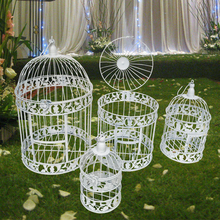 S M L European style decorative bird cage / window ornaments white photography props hotel wedding