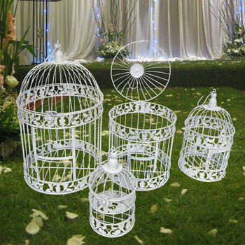 S M L European style decorative bird cage / window ornaments / white photography props / hotel wedding cage sweet bird cage pattern removeable waterproof decorative wall sticker