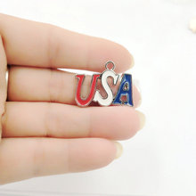 pendant charms USA Shape metal tagpendant for women necklace/keychain anklet Handworked Diy Jewelry wholesale stylish coin shape tassels anklet for women
