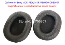 Original earmuffs, nondestructive sound quality Ear pads replacement (Cushion) for SONY MDR-7506 MDR-V6 MDR-CD900ST Headphones