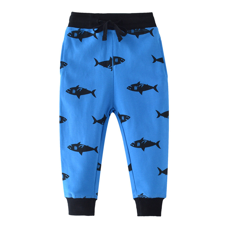Jumping meters Animals Baby Boys Girls Sweatpants cotton autumn Sharks Children clothes new trousers pants kids boys loose pant