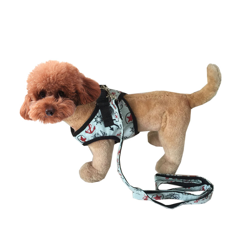 New Coming Sailor Style Pet Dog Chest Harness Size S M L Free Shipping