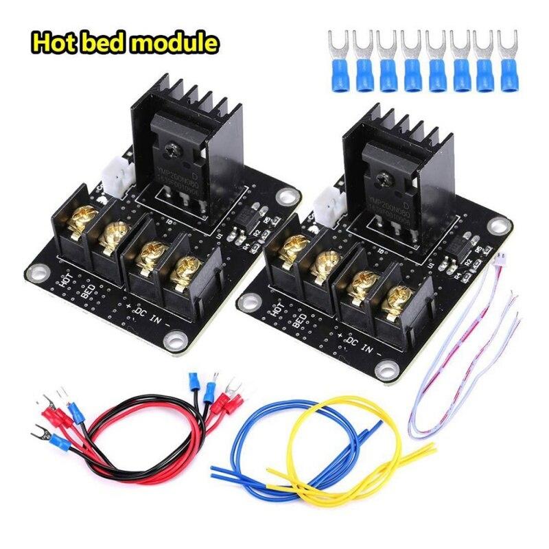 Module d'alimentation à lit chauffant 2 pièces basé sur un puissant MOSFET HA210NO6 pour rampes Anet A8 A6 A2 1.4