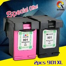 Картридж для hp 901 xl bk + c, для hp принтер 4500 j4580 j4550 j4540 + 4500 беспроводной j4680 j4524 j4535 j4585 j4624 j4660