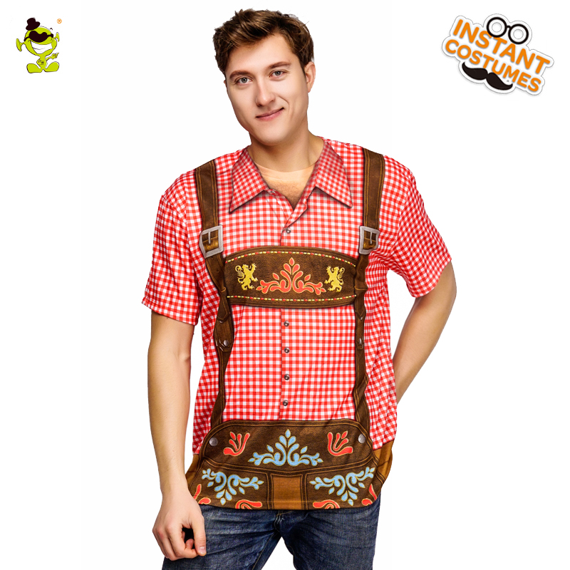New Style Men's Oktoberfest T shirt Costume Masquerade Beer Tops In Carnival Party Design Fancy Oktoberfest Printed T-shirt