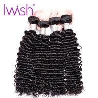 Iwish Hair Brazilian Curly Hair Bundles Remy Human Hair Weave Bundles Natural 1PC 10 28inch Hair Extension Weaving Natural Color