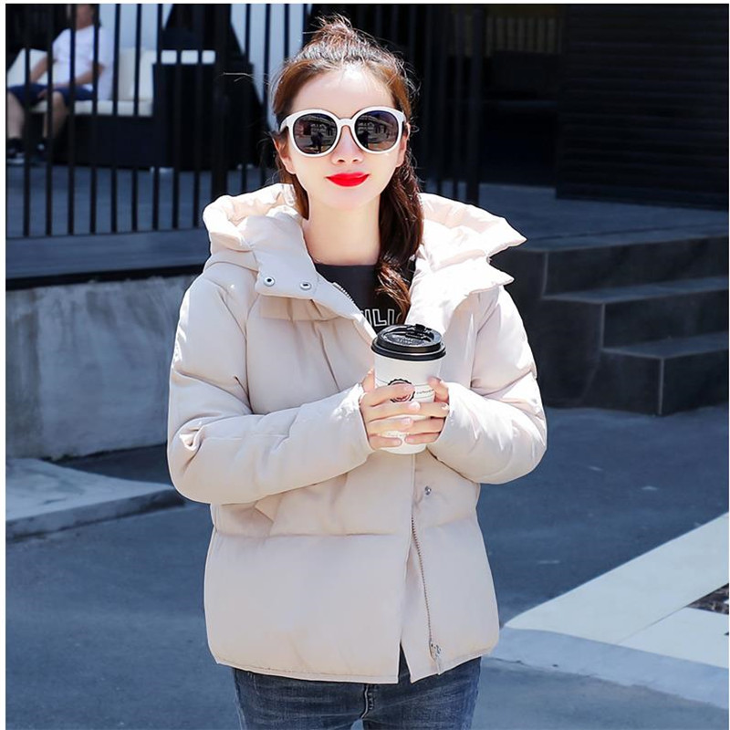 Parka   Women Winter Jacket Women Coats Hooded Coats Female   Parka   Thick Cotton Padded Lining Winter Female Coats 2019 New C028