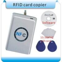 Free Shipping USB ACR122U NFC RFID 13 56MHZ Card Reader Writer NFC ISO IEC18092 Tags 20pcs
