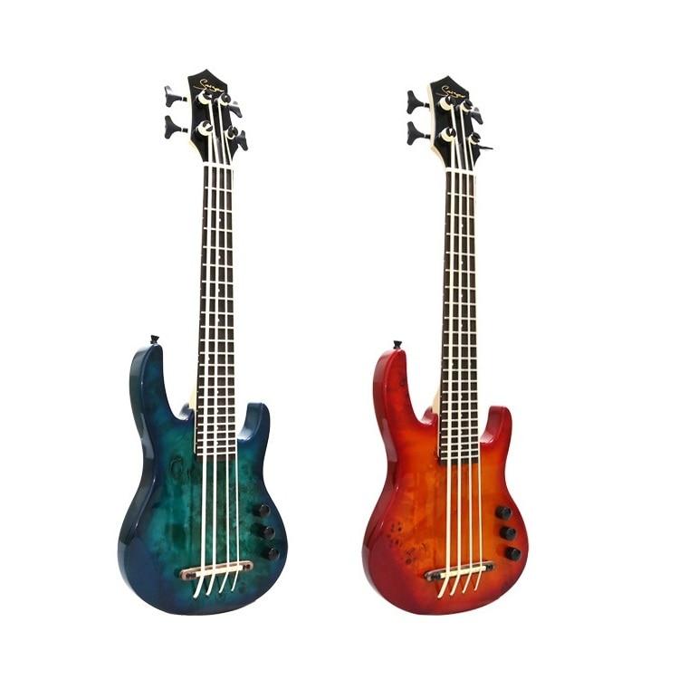 Ukulélé électrique basse 2019 Ubass guitare 30 pouces 4 cordes Mini basse UKU guitare électro pick-up érable haute qualité haute brillance