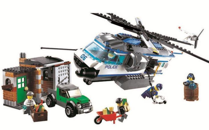 528pcs 10423 urban Police Helicopter Surveillance building blocks kids Educational Bricks gift Toys Compatible Lepin City 60046 407pcs sets city police station building blocks bricks educational boys diy toys birthday brinquedos christmas gift toy