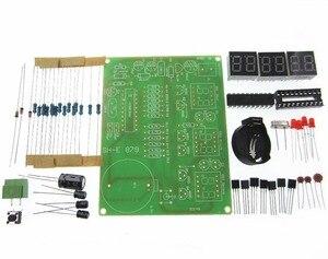 Image 1 - 10 Uds DIY Kits AT89C2051 reloj electrónico Digital tubo de visualización LED Suite piezas de módulo electrónico y componentes DC 9 V 12 V