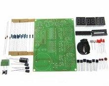 10 pcs bricolage Kits AT89C2051 horloge électronique LED tube numérique affichage Suite Module électronique pièces et composants DC 9 V 12 V
