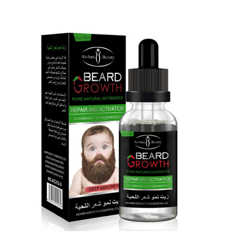 100% Natural Organic Men Beard Growth Oil Beard Wax balm Hair Loss Products Leave-In Conditioner for Groomed Beard Growth 30ml 2
