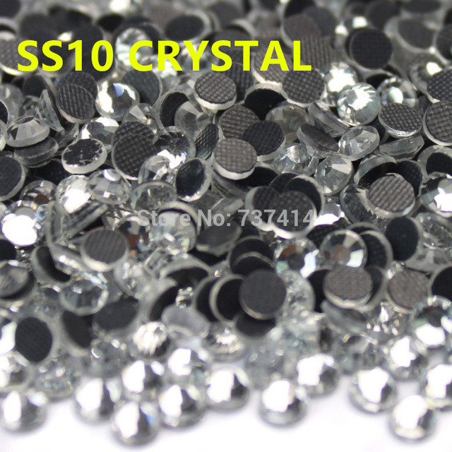 SS10 Clear Crystal DMC Hotfix Rhinestones Flatback Glass Iron On Hot Fix  Rhinestones Iron On Strass For Transfer Motif Designs 2cef2b20a6ea
