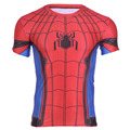 2016 Fashion Men t-shirt Fashion Elastic Tshirt Spiderman T Shirt Super Hero Short Sleeve T-shirt Spider-man T Shirt