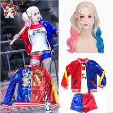Purim Girls Kids Children Harley Quinn Costume Cosplay Joker Suicide Squad Halloween Carnival Jacket Sets Chamarras De Batman стоимость