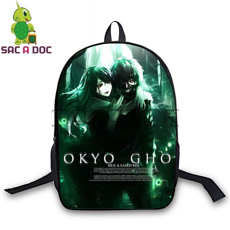 81942d8b002a Anime Tokyo ghoul backpacks kids school bags teenagers kaneki ken printed  backpack women men travel laptop bagpack-in Backpacks from Luggage   Bags  on ...