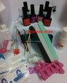 Nail Art  Soak Off Uv Gel Polish Manicure File Topcoat+basecoat +6 uv gel 36W Lamp cleanser plus liquid Acrylic remover Kit Set