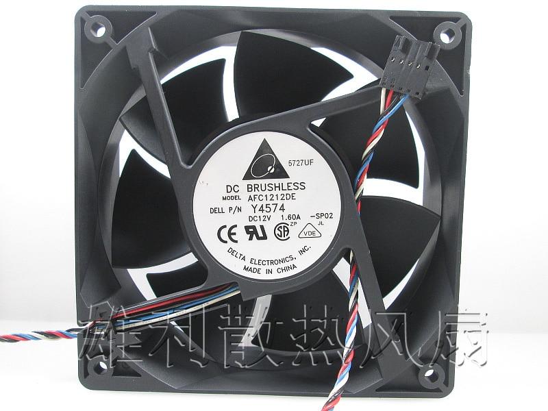 Free delivery.AFC1212DE 12038 12cm 12V 1.60A pwm temperature control large air volume I miner fan