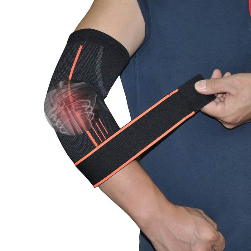 Breathable Elbow Brace Support Pressurized Bandage Outdoor Elbow Pads for Sport Basketball Fitness Elastic Arm Elbow Protector