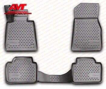 Alfombras de piso para BMW 3 F30 2012-4 piezas de caucho alfombras antideslizantes de goma interior estilo de coche accesorios