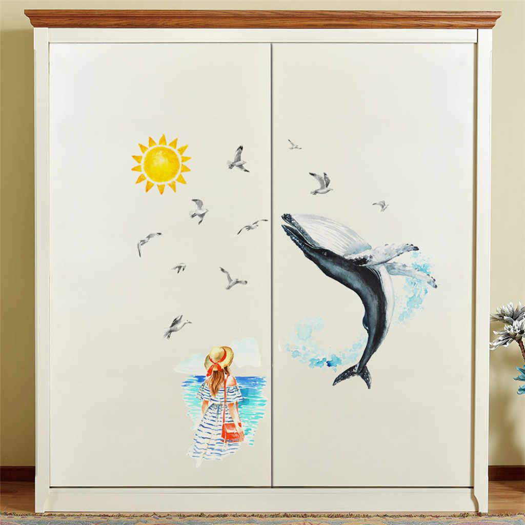 Кит Seabird Красивая Русалочка Мобильная креативная стена прикрепленная с