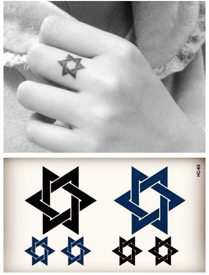 Beautiful Cute Sexy Body Art Beauty Makeup Cool Five-pointed Star Pattern Waterproof Temporary Tattoo Stickers For Girls And Man