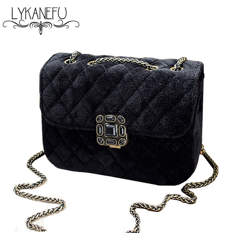 LYKANEFU Women Messenger Bags CrossBody Women Handbags Winter Female Shoulder Bag Ladies Purse Handbag Sac a Main Femme de Marqu