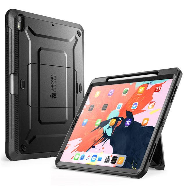 Uyumlu Apple iPad için iPad Pro 12.9 için kılıf (2018) SUPCASE UB PRO tam vücut kapak ile ekran koruyucu ve Kickstand