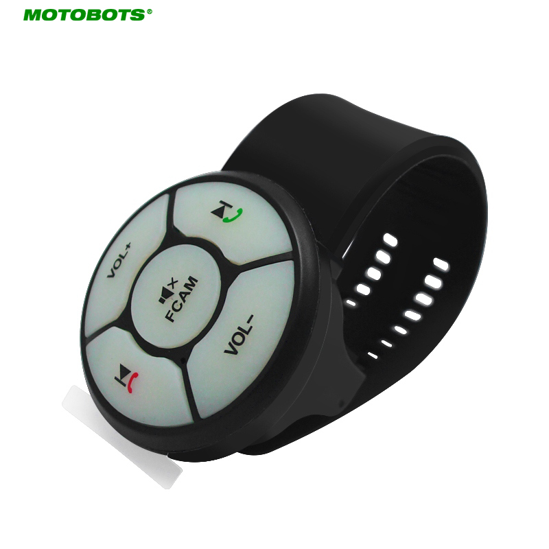MOTOBOTS New Upgrade 5-Key Car Wireless Steering Wheel Control Button Resin Strap For Car Android DVD/GPS Navigation Player#3155
