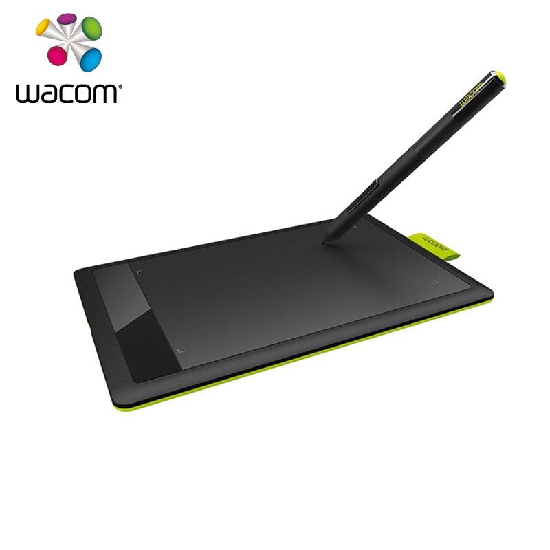 One by Wacom CTL 671/KO-F Medium Digital Graphic Drawing Tablet Pad 1024 Pressure Levels for PC/Mac + 10Pcs Black Nibs