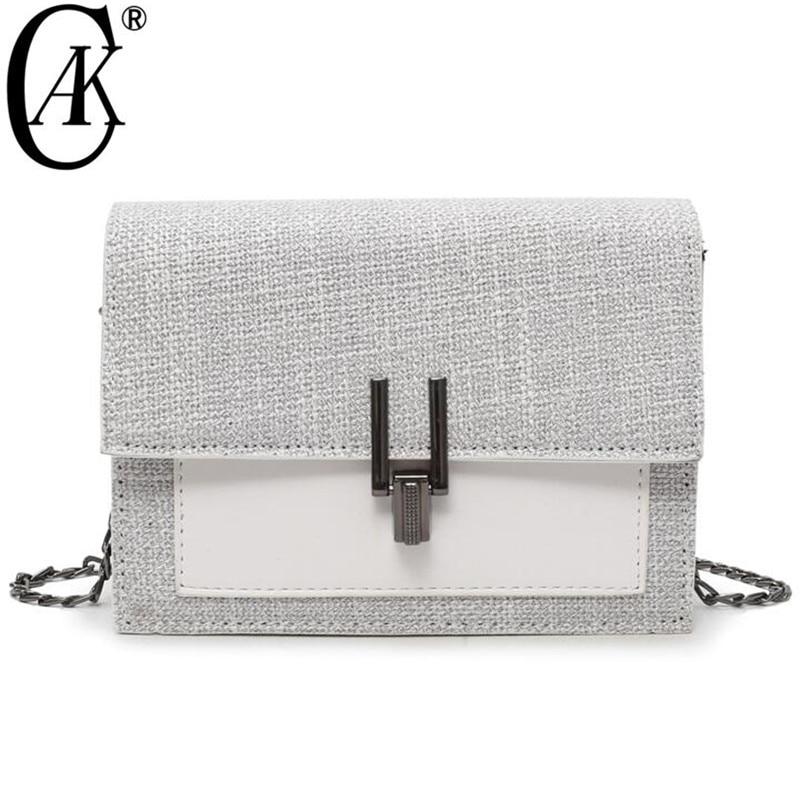 CAK nuevas mujeres del mensajero bolsos de hombro del diseñador famoso cuero Cruz Flap bolso femenino marca de lujo envío de la gota