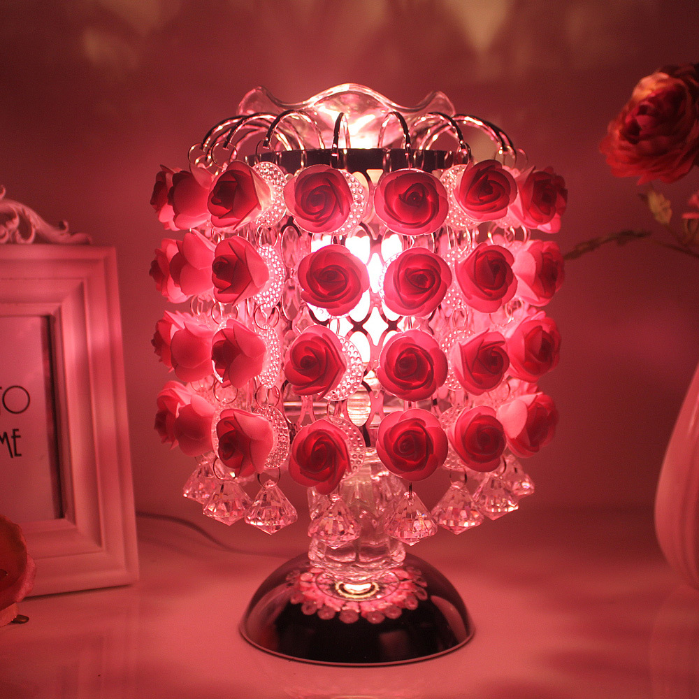 Modern Simple Table Lamp Pink Rose Dimming Lamps Table Living Room Bedroom Bedside Wedding Deco Table Lamp Home Deco LuminariaModern Simple Table Lamp Pink Rose Dimming Lamps Table Living Room Bedroom Bedside Wedding Deco Table Lamp Home Deco Luminaria