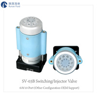 6 8 10 Way Switching Valve Small Compact Structure Sapphire Spool High Precision Liquid Sampling PLC Software Programmable Cheap